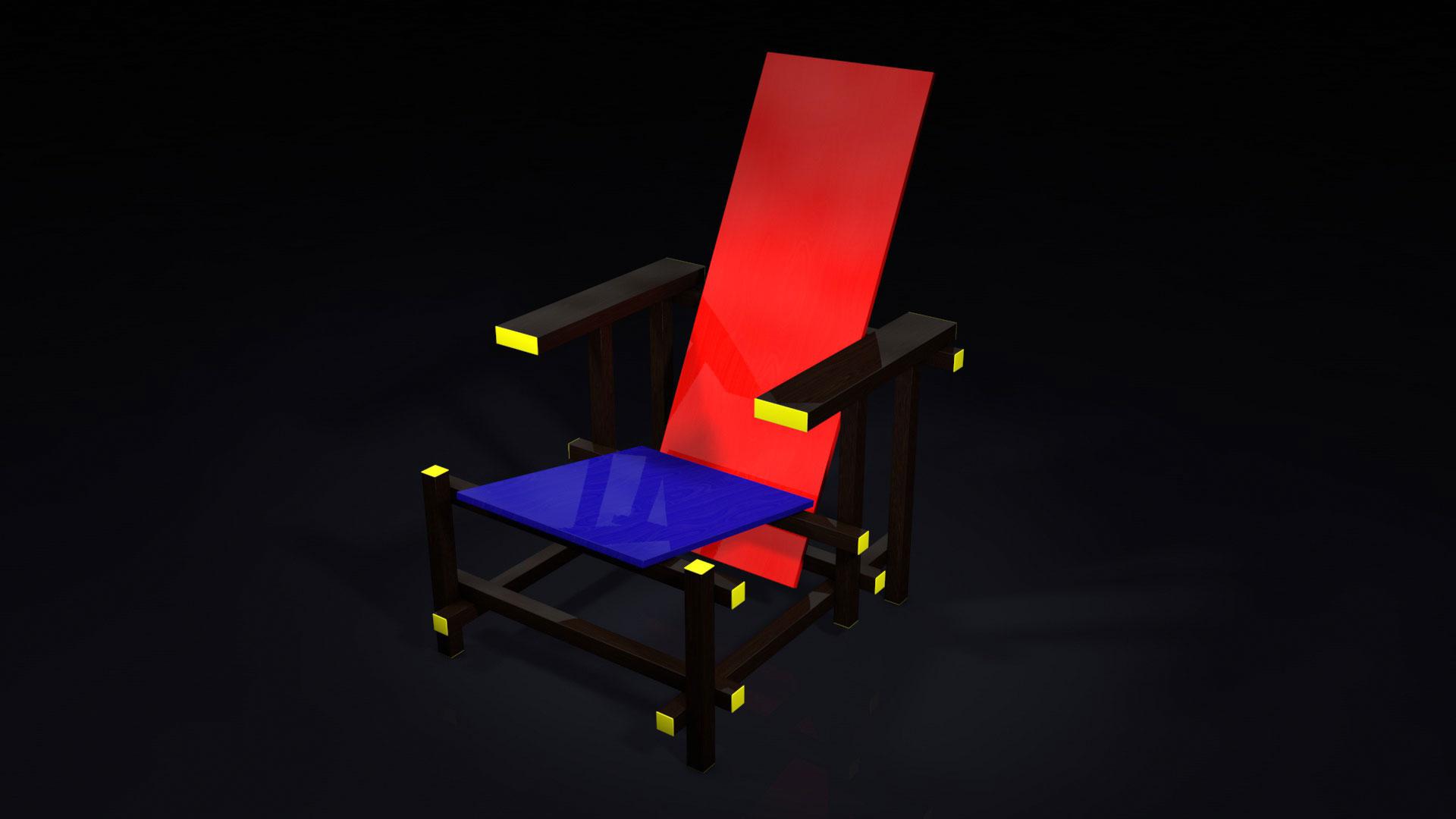 Arnaud gaudin designer d 39 espace concepteur etudiant en architecture - La chaise rouge et bleue ...