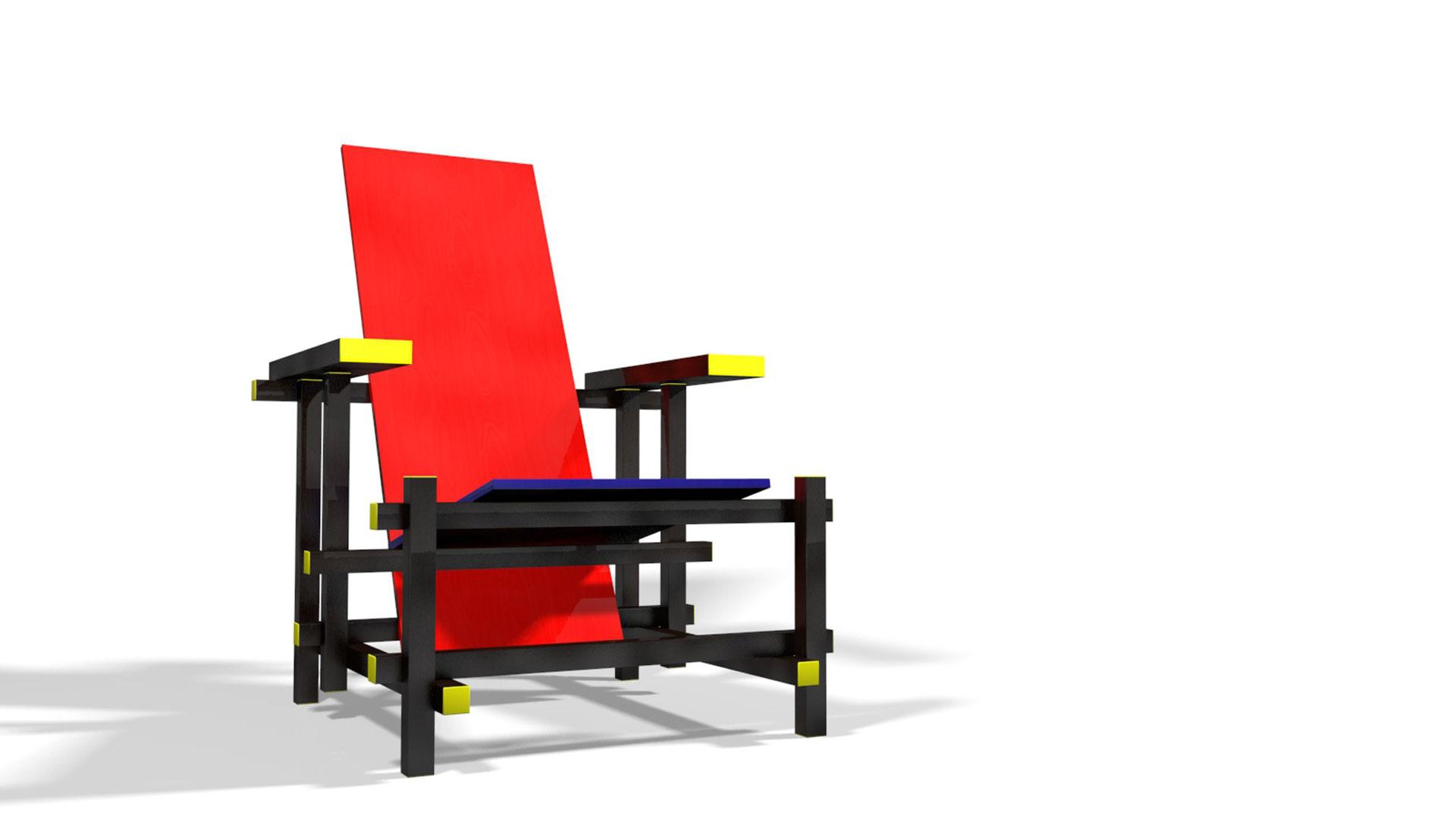 Chaise rouge et bleue conceptions de maison for Chaise rouge et bleue